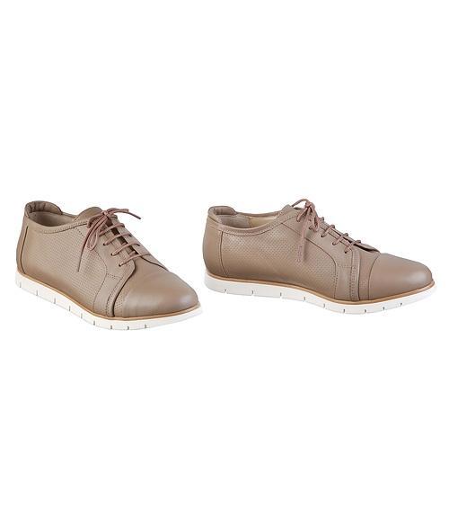 Туфли бежевые на шнурках, Фабрика обуви Sateg, г. Санкт-Петербург