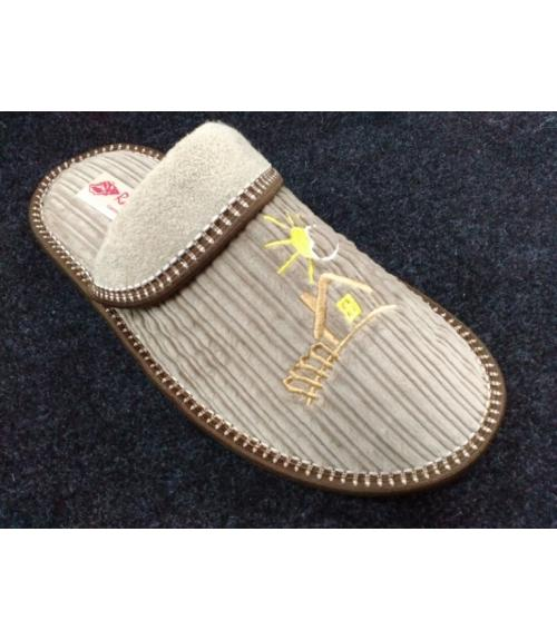 Тапочки домашние с отворотом вельвет Рапана, Фабрика обуви Рапана, г. Москва