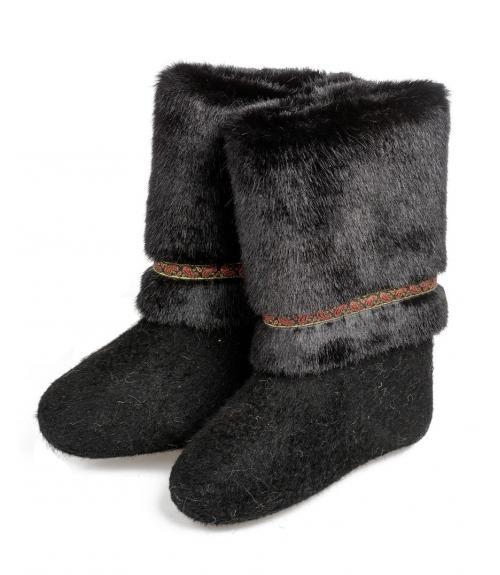 Валенки с опушкой женские, Фабрика обуви Выльгортская сапоговаляльная фабрика, г. с. Выльгорт