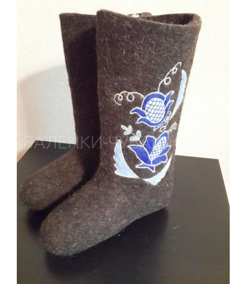 Валенки с вышивкой, Фабрика обуви Валенки Чувашии, г. Чебоксары