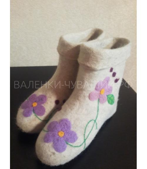 Валенки низкие с вышивкой, Фабрика обуви Валенки Чувашии, г. Чебоксары