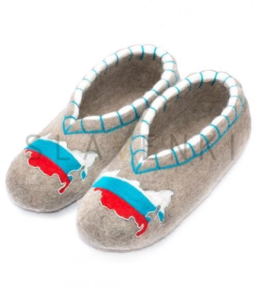 Войлочные тапочки с вышивкой, Фабрика обуви SLAVENKI, г. Чебоксары