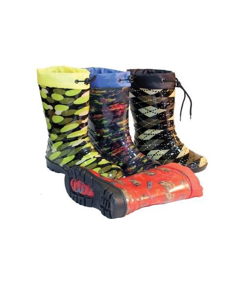 Сапоги ПВХ детские прозрачные с надставкой утепленные, Фабрика обуви Корнетто, г. Краснодар