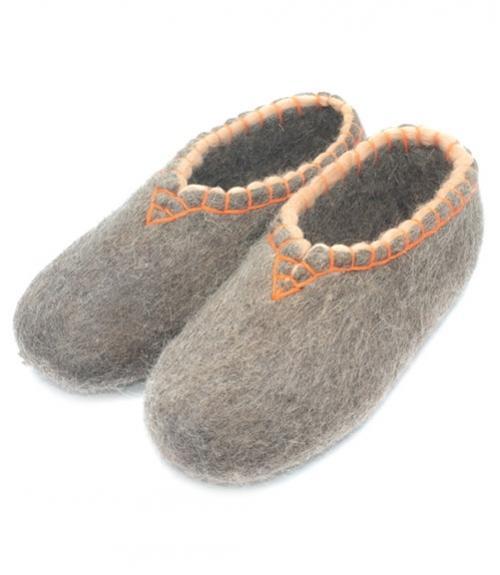 Валяные тапочки с обшивкой, Фабрика обуви SLAVENKI, г. село Ухманы