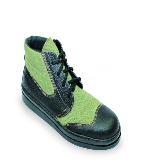 Ботинки кожаные Асфальтоукладчик, Фабрика обуви Вахруши-Литобувь, г. Вахруши