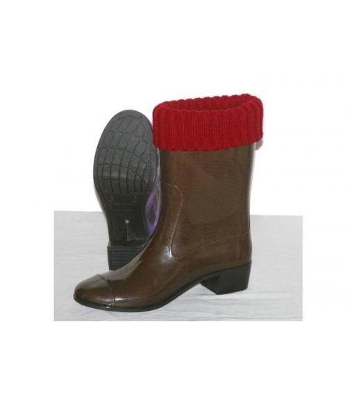 Сапоги ПВХ женские цветные с манжетой, Фабрика обуви Кристалл-ПЛЮС , г. Крымск