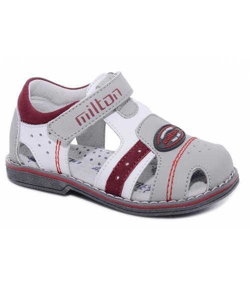 Детские открытые сандалии для мальчиков, Фабрика обуви Milton, г. Чехов