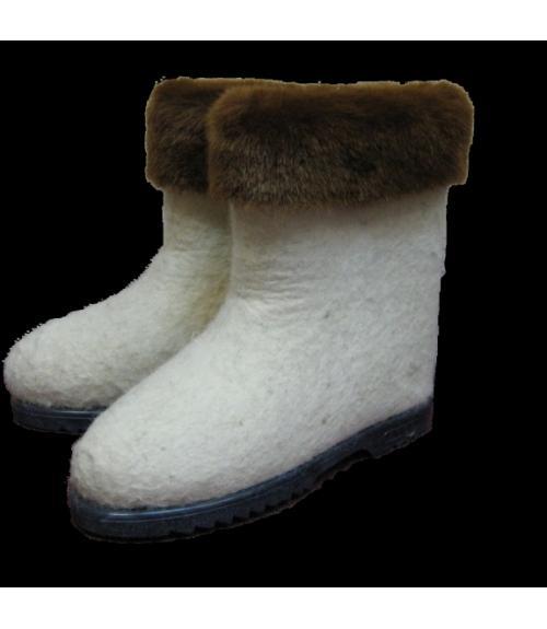 Валенки женские с отделкой, Фабрика обуви Гатчинский промкомбинат, г. Гатчина
