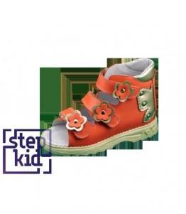 Детские сандалии коралловый-золото STEPKID, фабрика обуви STEPKID, каталог обуви STEPKID,Ростов на Дону