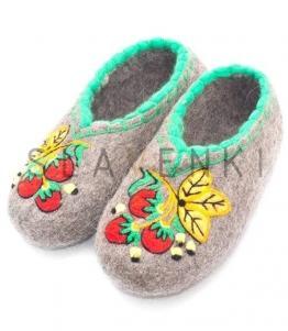 Валяные тапочки с рисунком, фабрика обуви SLAVENKI, каталог обуви SLAVENKI,село Ухманы