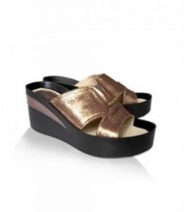 Сабо женские золотистые Gugo shoes, фабрика обуви Gugo shoes, каталог обуви Gugo shoes,Пятигорск