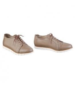 Туфли бежевые на шнурках, фабрика обуви Sateg, каталог обуви Sateg,Санкт-Петербург