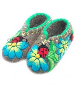 Валяные тапочки с рисунком женские, фабрика обуви SLAVENKI, каталог обуви SLAVENKI,село Ухманы