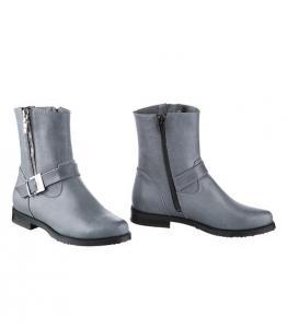 Ботинки серые с прямым голенищем оптом, Фабрика обуви Sateg, г. Санкт-Петербург