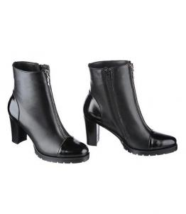 Ботинки на устойчивом каблуке с декоративной молнией оптом, обувь оптом, каталог обуви, производитель обуви, Фабрика обуви Sateg, г. Санкт-Петербург