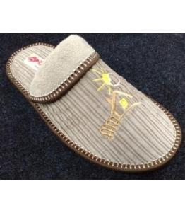 Тапочки домашние с отворотом вельвет Рапана оптом, обувь оптом, каталог обуви, производитель обуви, Фабрика обуви Рапана, г. Москва