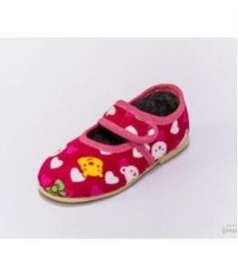 Тапочки детские на липучке, мод 107л-летние, фабрика обуви Башмачок, каталог обуви Башмачок,Чебоксары