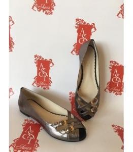 Женские балетки коричневые AST, фабрика обуви AST, каталог обуви AST,Евпатория