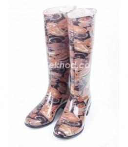 Сапоги ПВХ женские с рисунком Jolita оптом, обувь оптом, каталог обуви, производитель обуви, Фабрика обуви Вездеход, г. Москва