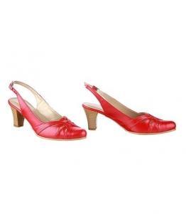 Босоножки красные, открытая пятка, Фабрика обуви Sateg, г. Санкт-Петербург