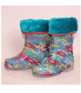 Сапожки детские из ПВХ утепленные, фабрика обуви Каури, каталог обуви Каури,Тверь
