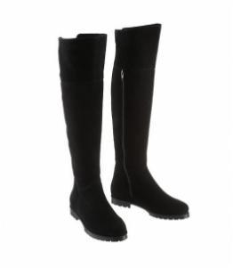 Ботфорты зимние замшевые без каблука, Фабрика обуви Sateg, г. Санкт-Петербург
