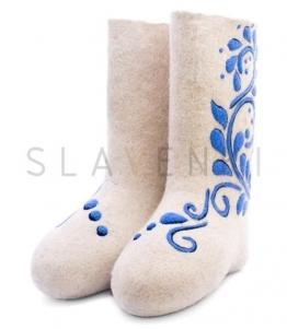 Валенки женские с рисунком, фабрика обуви SLAVENKI, каталог обуви SLAVENKI,село Ухманы