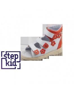 Детские сандалии белый-коралловый, фабрика обуви STEPKID, каталог обуви STEPKID,Ростов на Дону
