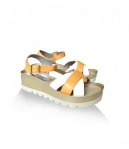 Босоножки женские бело ораньжевые Gugo shoes, фабрика обуви Gugo shoes, каталог обуви Gugo shoes,Пятигорск