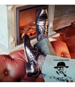 Туфли Дерби «CROCO» оптом, обувь оптом, каталог обуви, производитель обуви, Фабрика обуви Alesandro Vitorio, г. Уфа