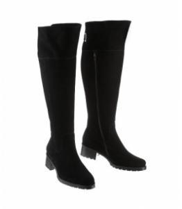 Ботфорты зимние замшевые на среднем каблуке оптом, обувь оптом, каталог обуви, производитель обуви, Фабрика обуви Sateg, г. Санкт-Петербург