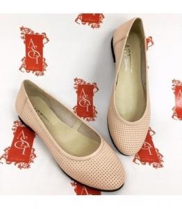 Женские балетки с перфорацией AST, фабрика обуви AST, каталог обуви AST,Евпатория